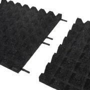 Černá gumová dlaždice (V40/R28) - délka 100 cm, šířka 100 cm a výška 4 cm