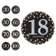 Liragram Platos de Burbujas de Champagne de 23 cm - 8 unidades - Número 80