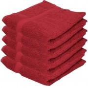 Towelcity 5x Luxe handdoeken wijnrood 50 x 90 cm 550 grams
