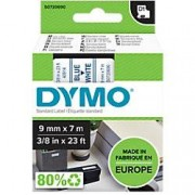 Dymo D1 Labelling Tape 40914 Blue on White 9 mm x 7 m