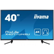 "iiyama ProLite X4071UHSU-B1 39.5"" 4K Ultra HD MVA Matt Black Flat computer monitor LED display"