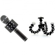 WS 858 Karokke Microphone with in built speaker and Gorilla camera tripod EGI_502