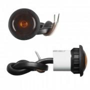 Lampa gabarit auto KM100 12V rotunda Portocaliu cu led, diametru 27.5mm , 1 buc.