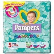 Pampers baby dry junior 23 pannolini 11/25 kg