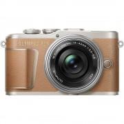 Olympus E-PL9 Aparat Foto Mirrorless 16.1MP UHD 4K Kit Obiectiv cu EZ-M14-42mm Pancake Maro/Argintiu