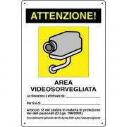Cartello avviso videosorveglianza - CART-02
