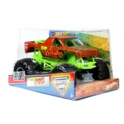 Hot Wheels Monster Jam 1:24 Scale Die Cast Metal Body Official Monster Truck 2012 Series #W3368-098B : RAP ATTACK with Monster Tires Working Suspension and 4 Wheel Steering (Dimension : 7 L x 5-1/2 W x 4-1/2 H)