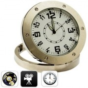 Spy Analogue Table Clock Audio Video Recorder Camera