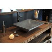 Vasque rectangulaire grise