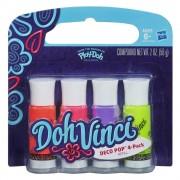 Play-Doh, Set Doh-Vinci Deco Pop 4 culori - Hot