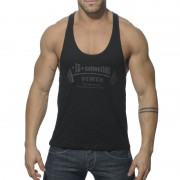 ES Collection Power Gym Low Rider Tank Top T Shirt Black TS077
