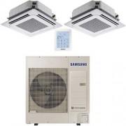 Samsung Climatizzatore Condizionatore Samsung Twin Mini Cassetta 4 vie 18000 BTU U.E. AC100MXADKH INVERTER