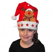Merkloos Kerstmuts met lichtjes voor kinderen