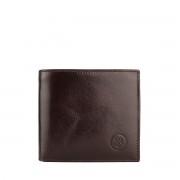 Herren Geldbörse mit Münzfach in Dunkelbraun - Brieftasche, Portemonnaie, Geldbeutel, Kreditkartenetui