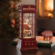 LED decorative light Telephone Box with Santa