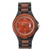 Bewell Bamboo Red Sandalwood & Ebony Wood Watch