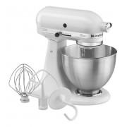KitchenAid 5K45SSEWH Classic Robot da Cucina Capacità Ciotola 4.5 Litri Potenza 250 Watt Colore Bianco