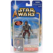 Star Wars Attack Of The Clones Jango Fett Slave 1 Pilot Figure New