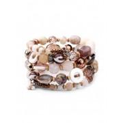 Zaful Bracelet superposé de perles Bronze