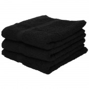 Towelcity 3x Luxe handdoeken zwart 50 x 90 cm 550 grams