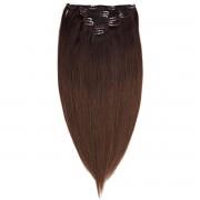 Rapunzel® Hair extensions Clip-on Set Original 7 pieces O2.3/5.0 Chocolate Brown Ombre 50 cm