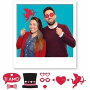 Photo Booth 20 cm Pasiune 8 buc/Set Big Party