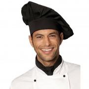 Geen Luxe chefkok koksmuts zwart voor volwassenen