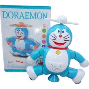 OH BABY BABY Doremon AND IN THIS 3D LIGHT MUSICAL SOUND Doremon Fly Helicopter LOOK Doremon Toy For Kids SE-ET-06