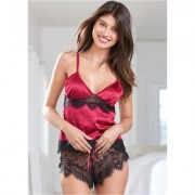 Sheer Lace Short Set Holiday Gift Guide - Red/Multi