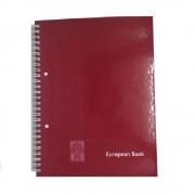 Caiet European Book A4 Dictando cu Dublu Spira Metalica, 80 File, Coperta Policromie Rosie, Caiet Spiralat de Romana, Caiete Tip Agenda