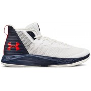 Under Armour UA Jet Mid - scarpe da basket - uomo - White/Blue/Red