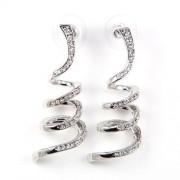 Breeze Swarovski kristályos fülbevaló - Ezüst színű