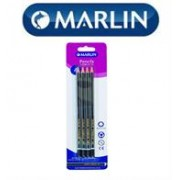 Marlin Scribblers HB end dipped pencil Black and