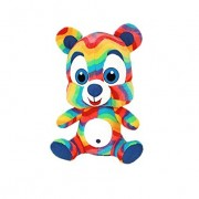 """ToySource Hugh The Greatful Bear Plush Collectible Toy, Rainbow, 48"""""""