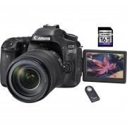 Canon Eos 80d con Lente 18-135mm + SD 16gb + control remoto - Negro