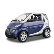 Maisto Die Cast 1:18 Scale Metallic Blue Smart Fortwo Coup