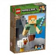 Конструктор Лего Майнкрафт - Alex BigFig с пиле, LEGO Minecraft 21149