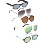Marc Jones Wayfarer, Aviator Sunglasses(Green, Grey, Brown, Silver)