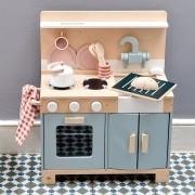 Bucatarie din lemn pentru copii, Mini Chef Home Kitchen, 16 piese