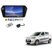 7 Inch Full HD Bluetooth LED Video Monitor Screen with USB Bluetooth + 8 LED Reverse Parking Camera For Maruti Suzuki Alto 800