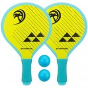 Waimea beachball set Palm springs 4-delig geel/lichtblauw