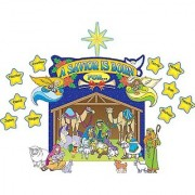 Teacher Created Resources Nativity Scene Bulletin Board Display Set (7026)