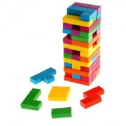Emob Colorful Combine Jenga Tetris Tower Up Stacking Game Set for Kids (Multicolor)