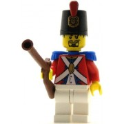 LEGO Pirates Minifig Imperial Soldier II Shako Hat Decorated Black Goatee