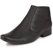 Knoos Men Black Zip Boots