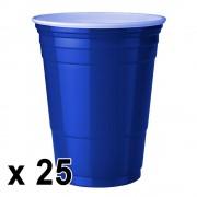 StudyShop 25 st. Blue Cups Blå Muggar (16 Oz.)