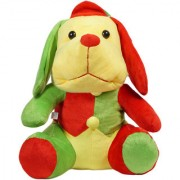 Ultra Cute Droopy Dog Plush Stuffed Toy 13 Inches - Red and Green
