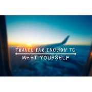travel far sticker poster travelling quotes for travellers size:12x18 inch multicolor