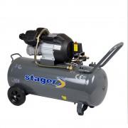 Compresor Aer Profesional Stager HM3100V - 2.2kW; Debit aer 356L/min; 8bar; Capacitate rezervor 100L.