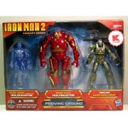 Iron Man 2 Movie Exclusive Concept Series 4 Inch Action Figure 3Pack Proving Ground Holographic Mark VI Hulkbuster Armor Recon War Machine
